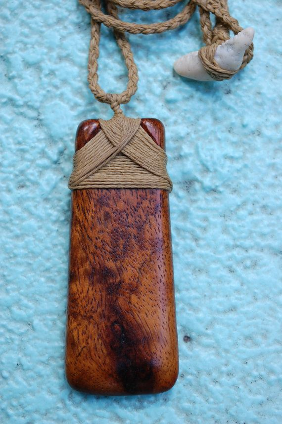 Hawaiian Adze Necklace Hand Carved Birds Eye Koa by KoaKarver, $75.00