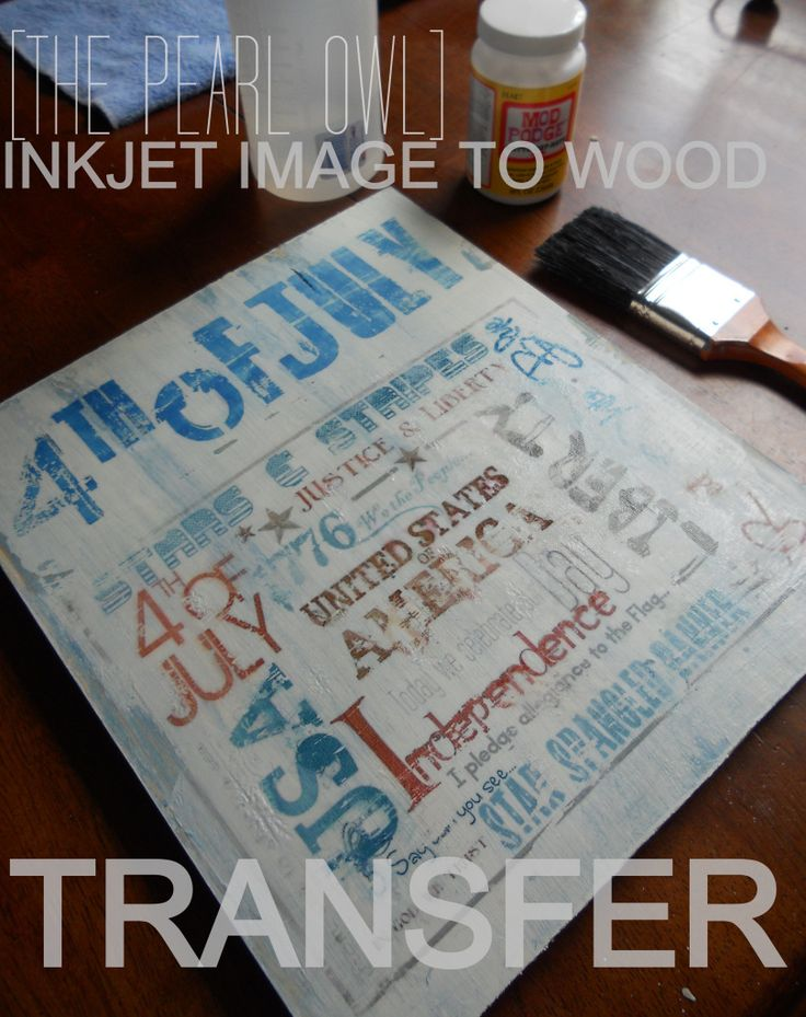 4th of July Ink Transfer Project