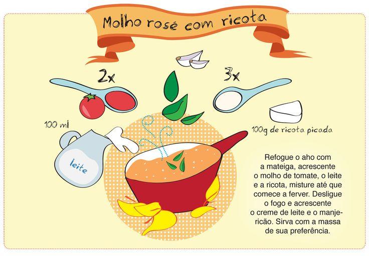 Receita Ilustrada: Molho Rosé com Ricotta