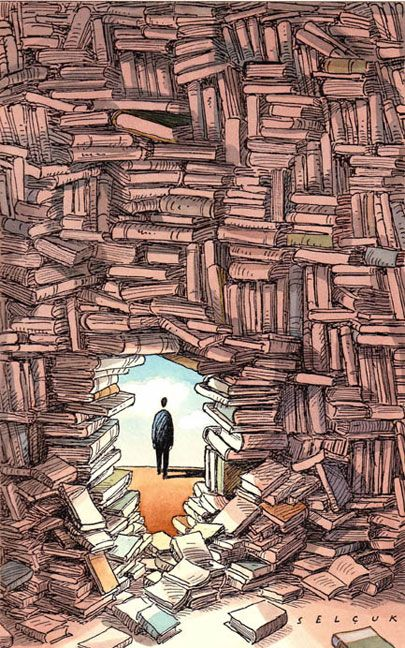 La #lectura, una de las mejores formas de rebelarse. Sé rebelde: lee y rompe barreras. (Ilustración de Selçuk Demirel). #BibUpo