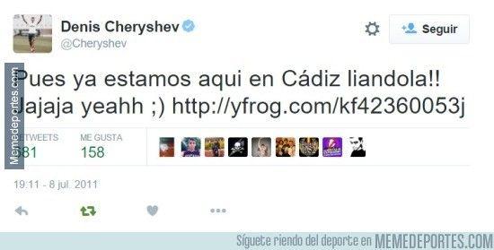 Cheryshev ya avisaba de lo k iba a pasar jajajajajaja