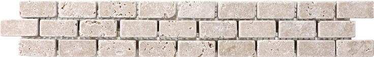 "2""x12"" Noce Travertine Brick Listello"