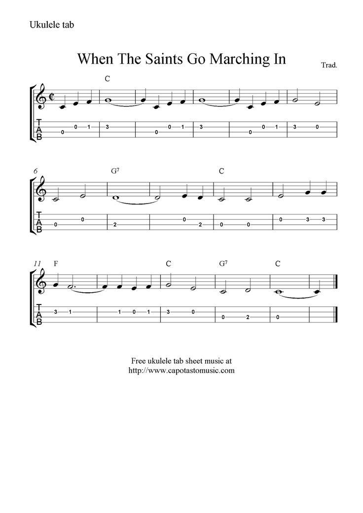 Piano piano tab sheet music : 14 best Ukulele stuff images on Pinterest | Guitars, Sheet music ...