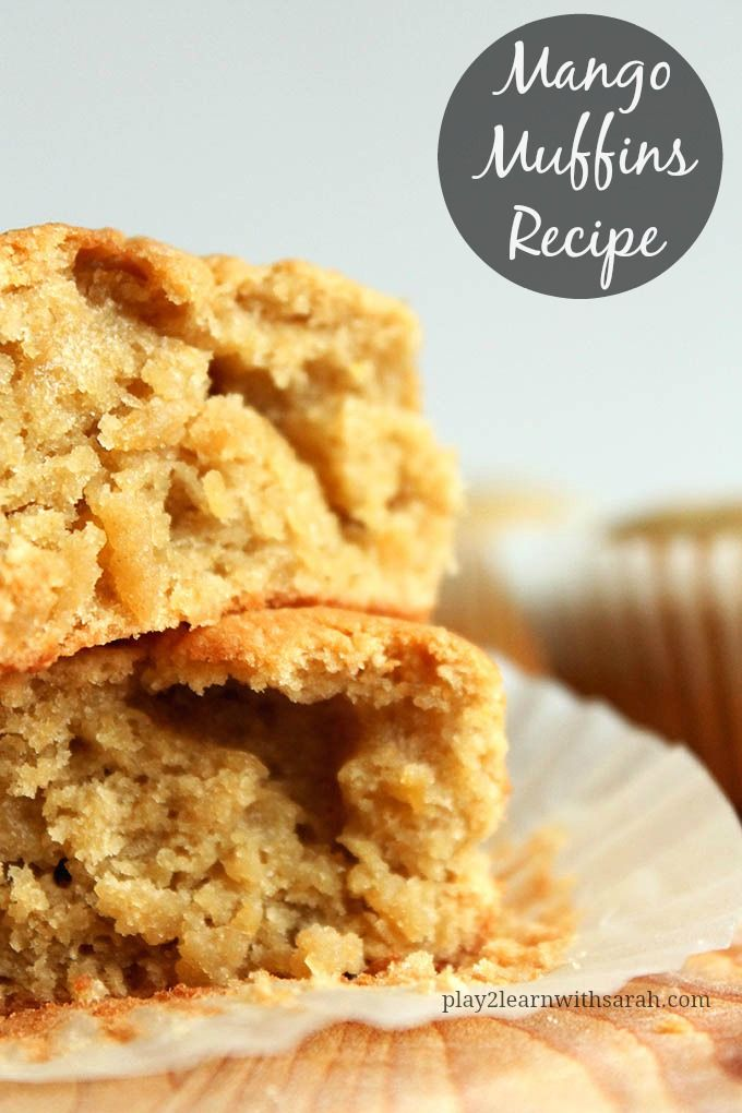 Mango Muffins Recipe - The delicious muffins are the perfect kid friendly recipe. They have such a mild taste that no one will know they have 2 cups of mango in them!
