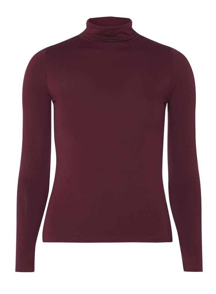 Petite Red Port Roll Neck Top | Dorothyperkins