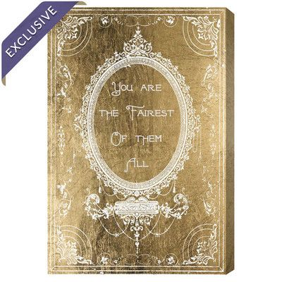 Oliver Gal The Fairest Gold Canvas Print, Oliver Gal
