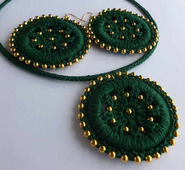 Ravelry: Jewelry set FORTUNE'S WHEEL pattern by Crochet- atelier