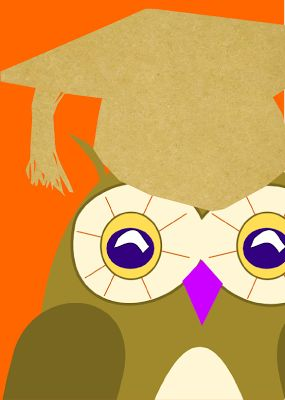free printable cute owl cards – owl with graduation cap clipart graphics – ausdruckbare Karten mit süßer Eule für alle Bücherwürmer :) – Freebies | MeinLilaPark – DIY printables and downloads
