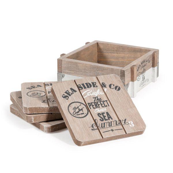 4 sottobicchieri in legno SEA SIDE