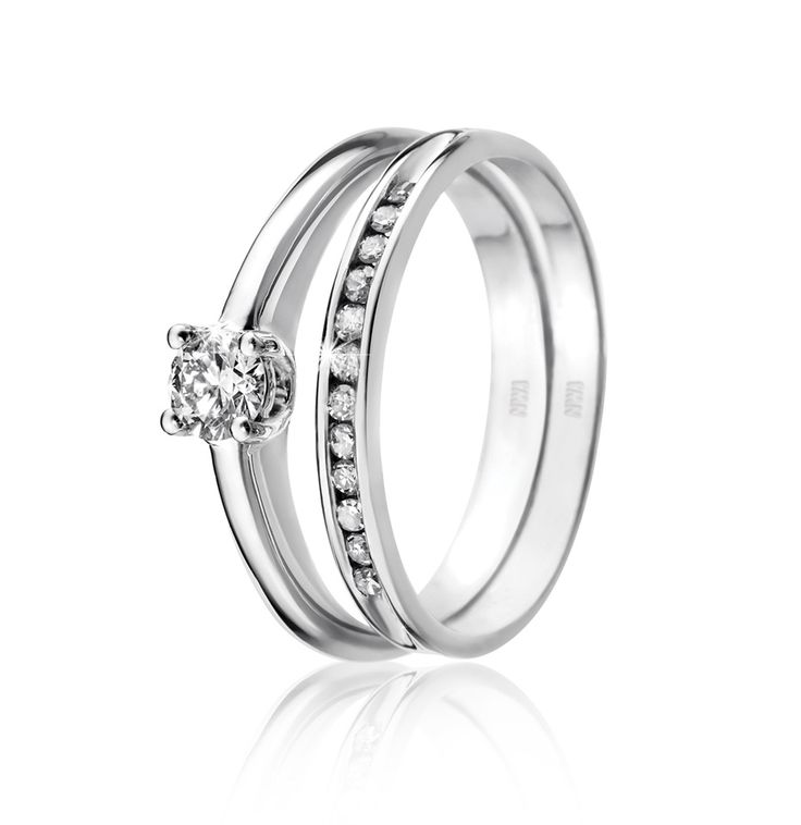 9ct White Gold Claw Set Diamond Solitaire Ring Image 3
