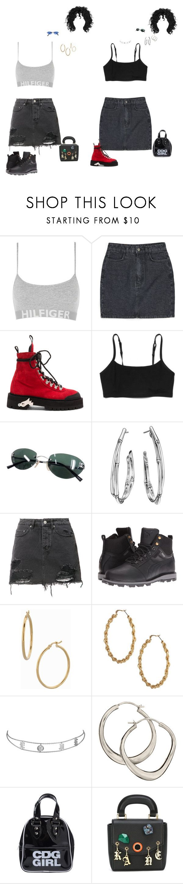 """""""Untitled #235"""" by dastylez ❤ liked on Polyvore featuring Tommy Hilfiger, Off-White, Gap, Chanel, John Hardy, Ksubi, Puma, Bony Levy, ASOS and Dinny Hall"""