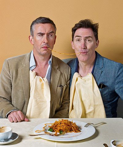 Credit: Sarah Lee for the Observer Steve Coogan and Rob Brydon shot for the