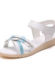 Women's+Sandals+Contemporary+PU+Summer+Casual/Daily+Flat+Heel+Light+Blue+Blushing+Pink+White+Flat+–+CAD+$+75.95