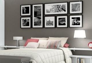 Decoração de quartos de casal cinza