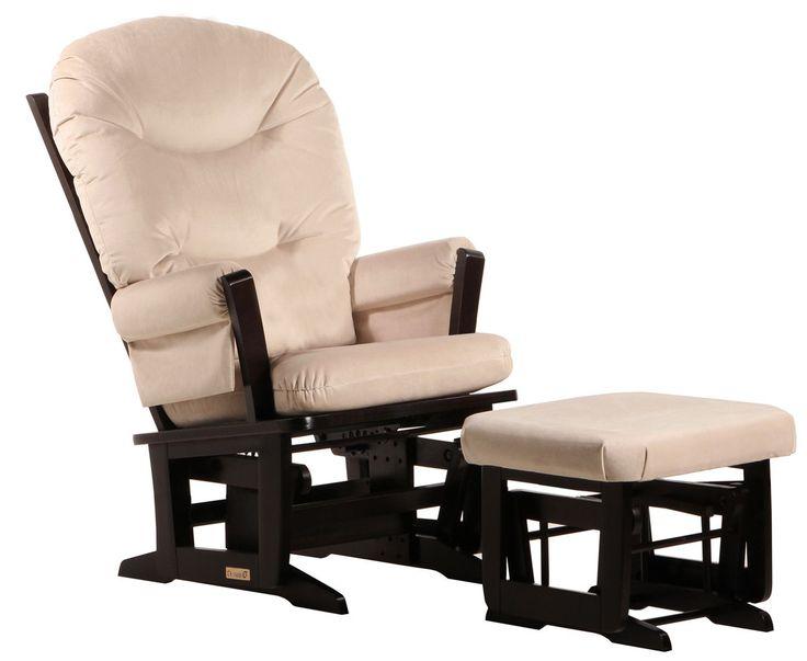 Ultramotion Modern with Plush Cushion Glider and Ottoman
