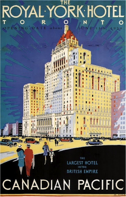 The Royal York Hotel Toronto - Vintage Travel Poster