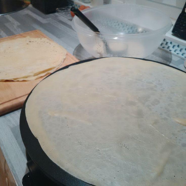 Quand je fais des crêpes, ça sent bon dans la maison :)