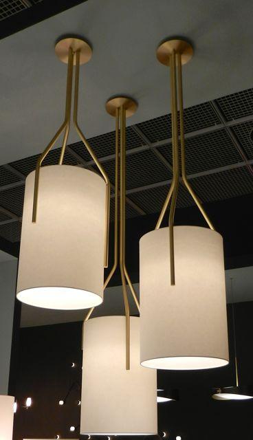 "Pendants incorporating metalwork - CVL Luminaires ""ARBORESCENCE"" - Herve Langlais - Brass, Fabric, PVC"