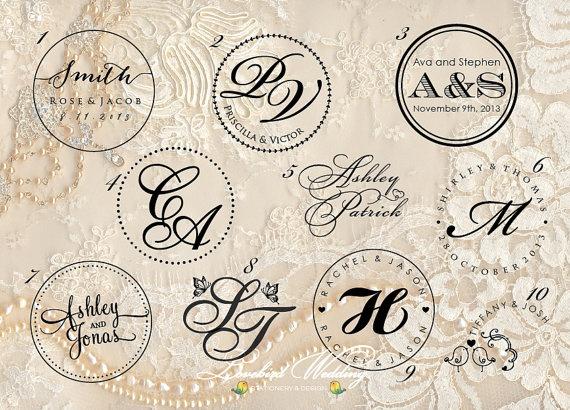 Wedding embossing seal wedding monogram embosser by LovebirdDesign, $32.00