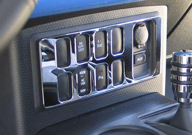 FJ Cruiser Chrome Billet Dash Switch Cover, EA [FJ0010SC] - $49.95 : Pure FJ Cruiser Accessories, Parts and Accessories for your Toyota FJ Cruiser
