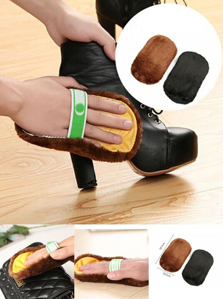 [Visit to Buy] 1Pcs New Arrival Shoe Care Brush Soft Wool Plush Shoe Gloves Wipe Shoes Mitt Suede Shoes Cleaner #Advertisement