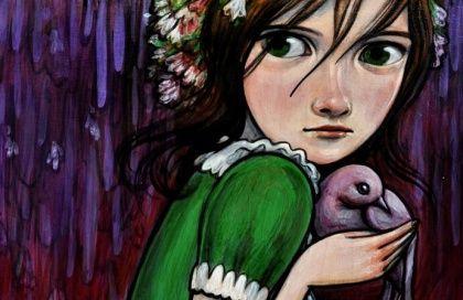 dziewczynka i gołąb - rany emocjonalne