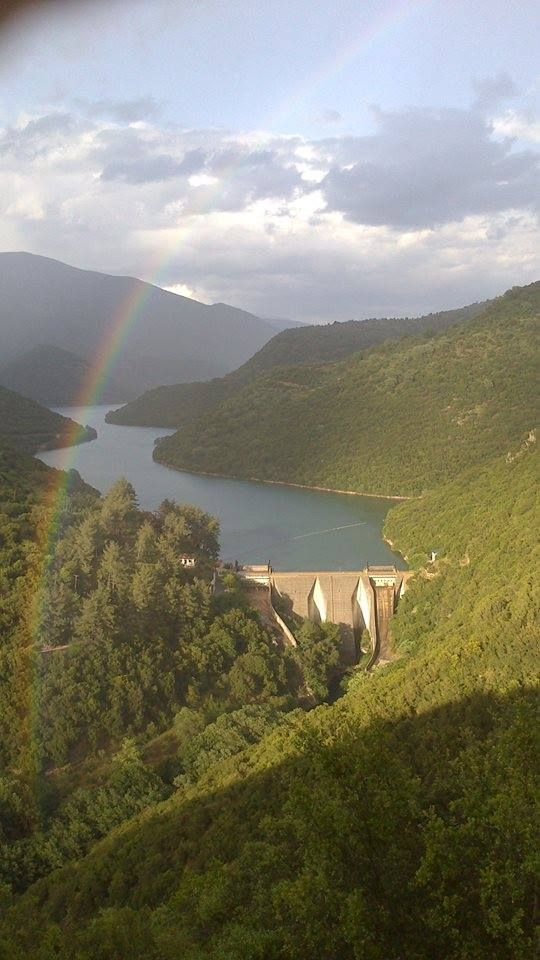 Rainbow over Ladonas lake ~ Peloponnese