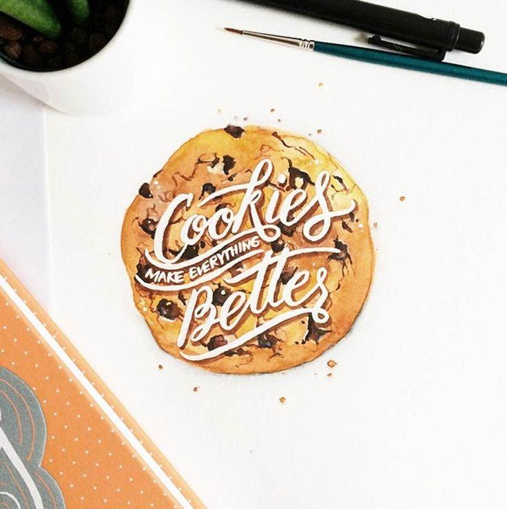 Entre peinture et typographie – Les créations Instagram de June Digan