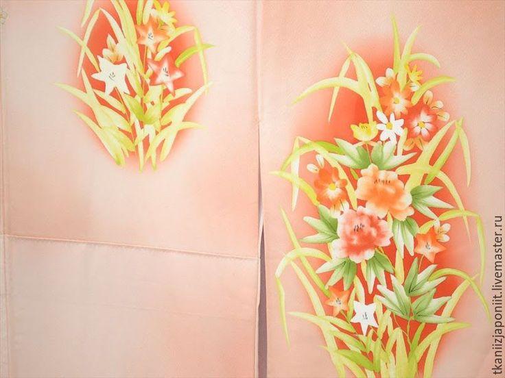 """Купить Кимоно японское """"Хризантемы"""" - цветочный, кимоно японское, кимоно женское, кимоно шелковое"""