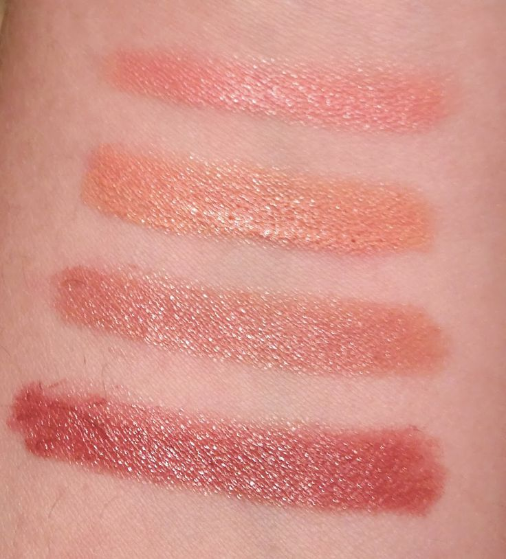 Swatches from Annabelle Cosmetics TwistUp Retractable Lipstick Crayon - Essential Nudes  http://faestina.blogspot.ca/2013/10/annabelle-cosmetics-twistup-retractable.html