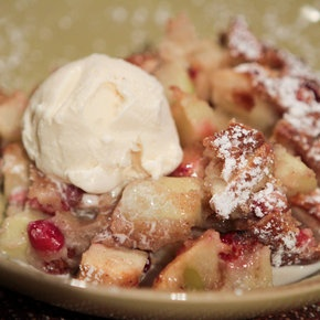 Apple Cranberry Cobbler by Clinton Kelly from @The Chew. Can be interchanged with any fruit and is by far the best cobbler recipe I've ever had!