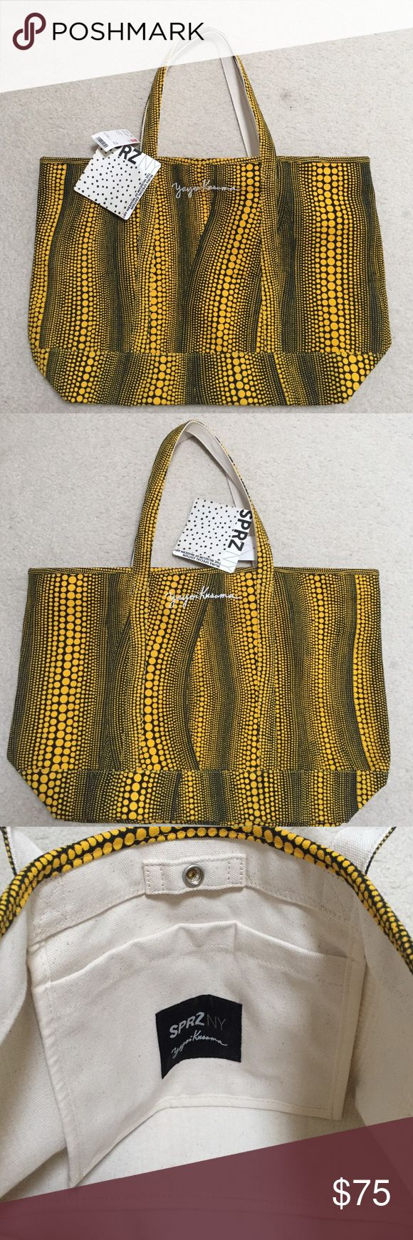 Uniqlo Yayoi Kusama Moma Edition canvas tote Uniqlo Yayoi Kusama Moma Special Edition canvas tote in yellow. New with tags, never been used. Uniqlo Bags Totes