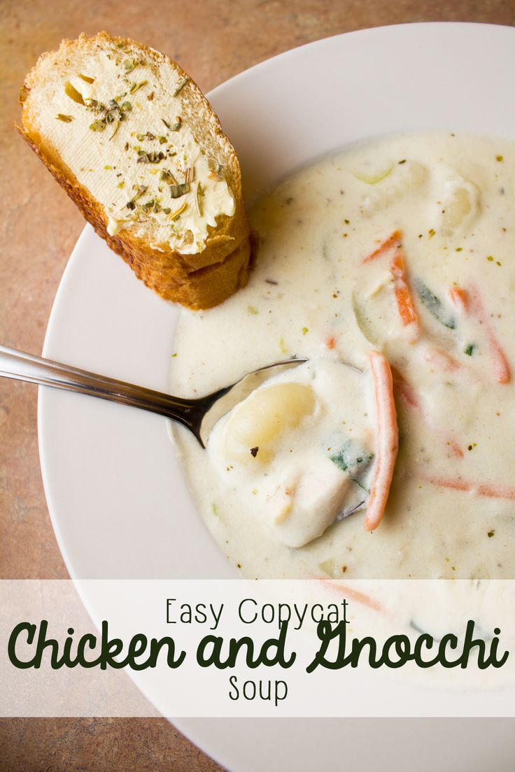 Hello, easy weeknight dinner! This simple chicken and gnocchi soup tastes just like the one at your favorite popular Italian restaurant, and it's super easy to make at home, whether you're serving it alone or as a starter for your favorite pasta! It's creamy, and it's a perfect chicken soup on any cold night! #RecipeTwist #ad