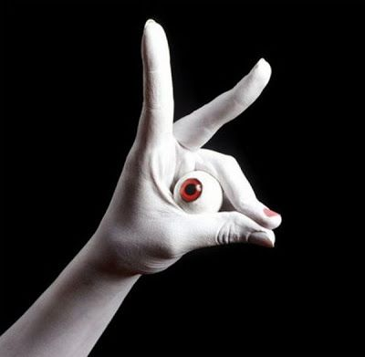 Artist Guido Daniele who has specialized in body artwork. His hand ...
