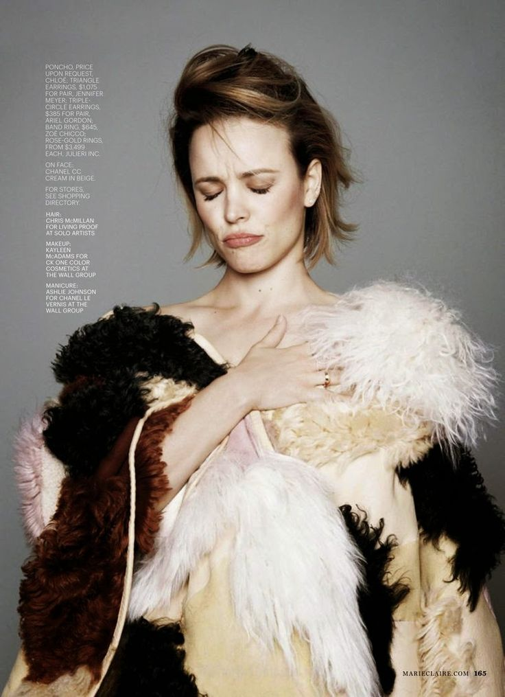 "Duchess Dior: ""Rachel Returns"" Rachel McAdams for Marie Claire US June 2015"