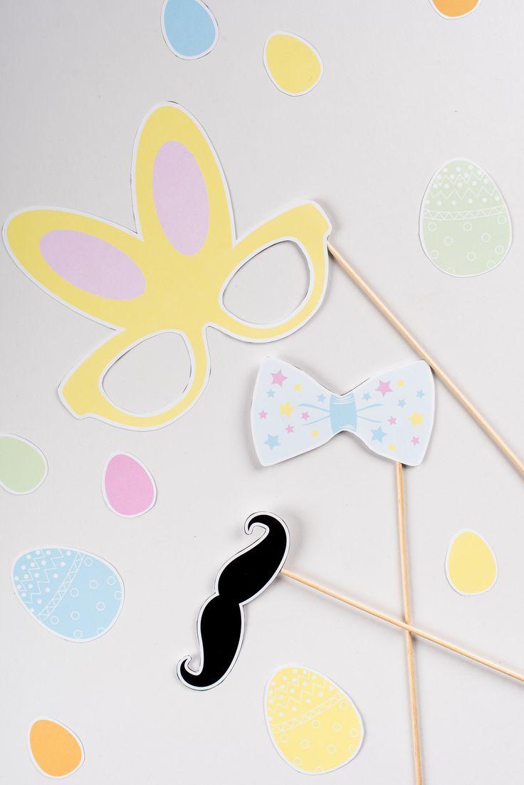 Photobooth enfants kit Chasse aux oeufs Pâques en délire