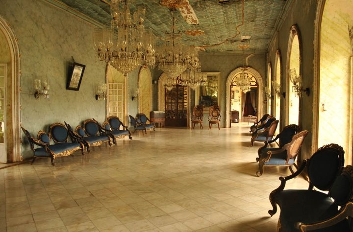 The ballroom at the Menezes-Braganza house- largest house in Goa