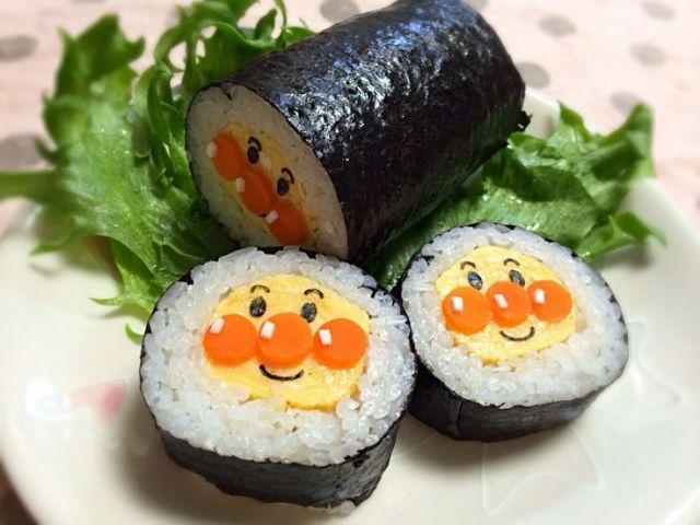 画像3 : キャラクターや動物を模した巻き寿司「デコずし」がとてもかわいかったのでご紹介します!キャラ弁ブームの影で密かに各家庭で作られていた「デコずし」はお弁当や節分の恵方巻きにもピッタリ♫厳選した「10」個のアイデアのご紹介です!