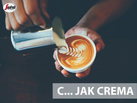 Nie ma włoskiego espresso bez puszystej cremy.  Dlatego każdy kawosz powinien znać to słowo, określające puszystą piankę w kolorze orzecha, pojawiającą się na powierzchni kawy, która skrywa bogactwo jej aromatu! #segafredo #kawowyalfabet #crema #włoskakawa #espresso #coffee #italianstyle