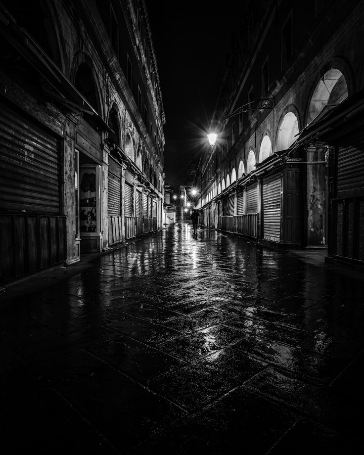 Wet wide dark streets. (Venice by Night by Mark Littlejohn, via 500px)... where a google watch might be helpful