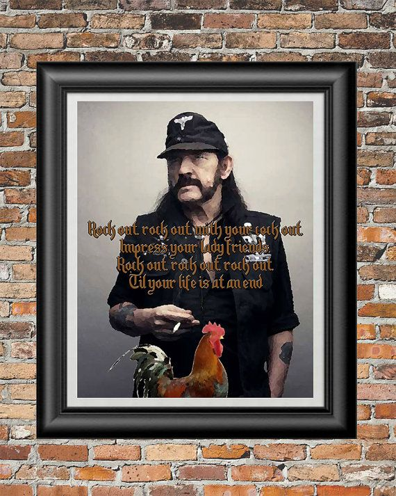 Rock Out by Motorhead printable wall art  by PrintableSongParts