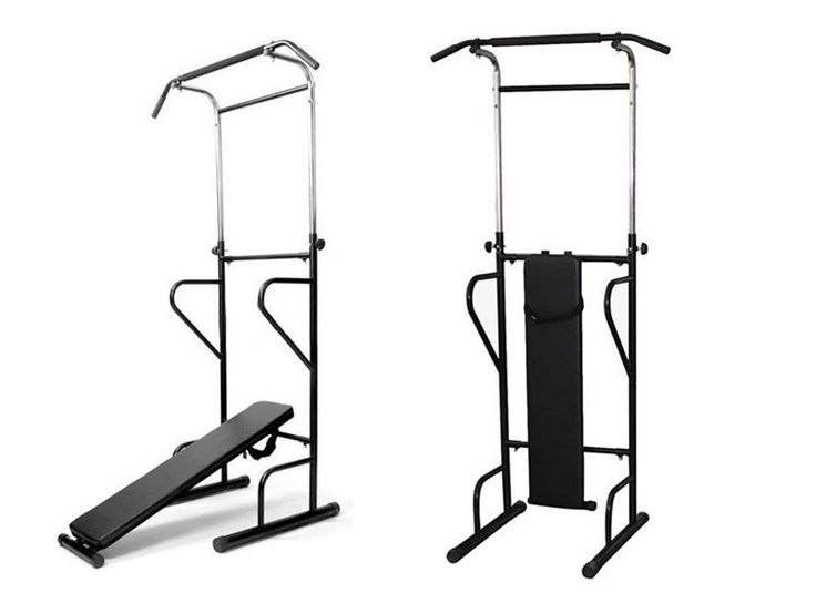 gym equipment power tower pull dip chin up station