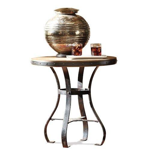 Riverside Furniture Sherborne Round Side Table w/ Metal Base
