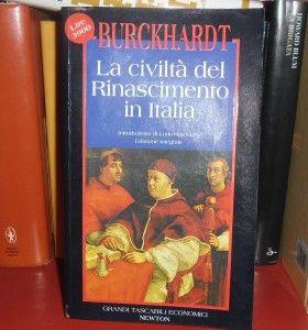 Civiltà del Rinascimento in Italia Burckhardt