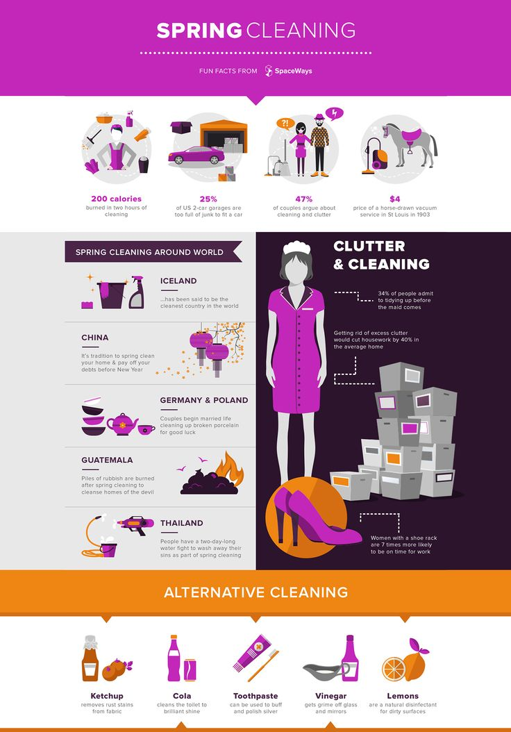 Spring Cleaning Infographic from SpaceWays