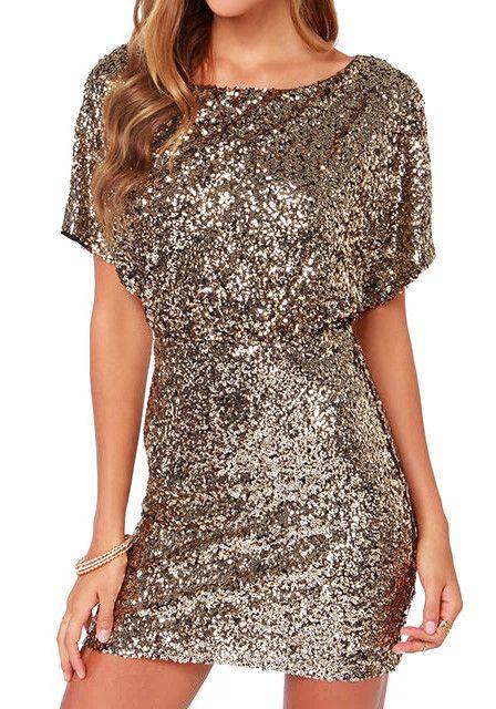 Gold Sequins Dress on Behance