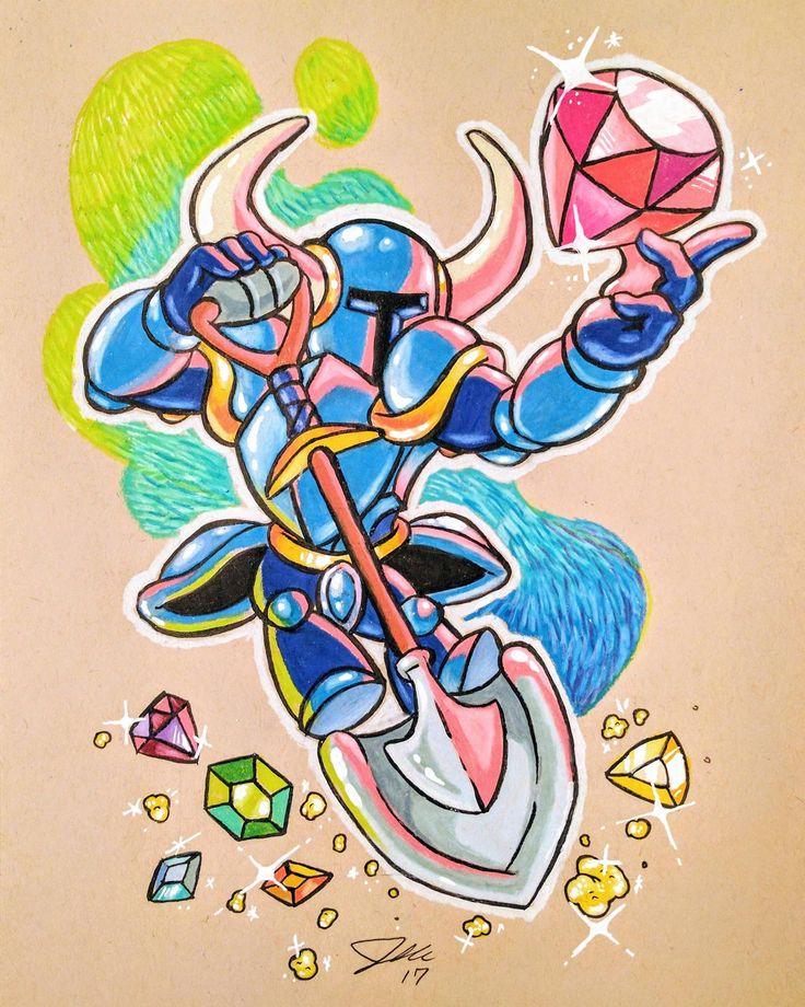 Shovel Knight sketch I made. http://ift.tt/2tx7Uar