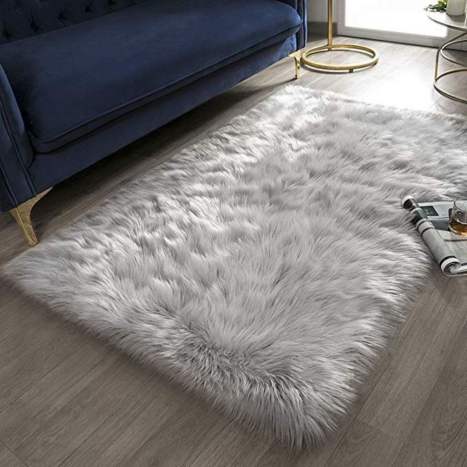 Amazon Com Ashler Ultra Soft Fluffy Area Rug Faux Fur Sheepskin Carpet Chair Couch Cover For Bed Bedroom Area Rug White Area Rug Bedroom Living Room Area Rugs #soft #plush #area #rugs #for #living #room