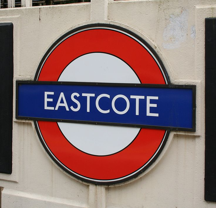 Eastcote London Underground Station in Ruislip, Greater London