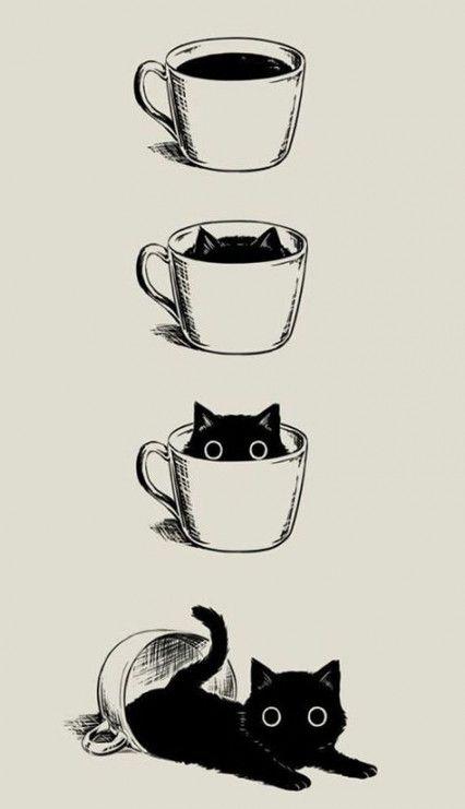46 ideas graciosas lindas ilustración gato